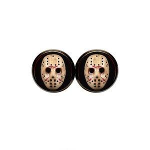 Jason Mask Earrings - Halloween, Horror